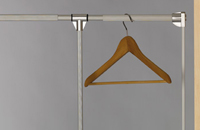 Wardrobe lift grey aluminium 12Kg.450-600mm / Ref. 105HP/450-600