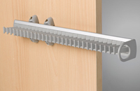 Tie rack aluminium grey 450mm / Ref. 106HP