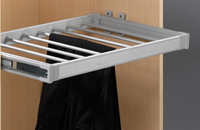 Trousers rack 8 hangers aluminium material with ball bearing slide/ Ref. 109HP