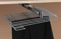 Trousers rack 11 hangers with double ball bearing drawer side. / Ref. HP180/11